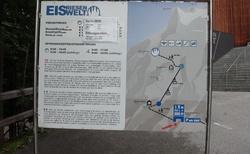 Ledová jeskyně Eisriesenwelt - plánek oblasti