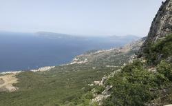 výhledy na moře vysoko v horách