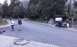 Obraciště koňských bryček Wlosienica - cesta dolů