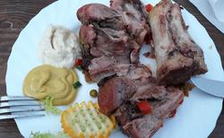 Restauracja u Sliwy Chocholów - večeře - golonka