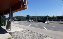Přestávka na parkovišti Inzersdorf