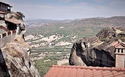 Doprava tovaru na Great Meteora Monastery