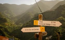 Značené turistické stezky v Anaga parku na severu Tenerife