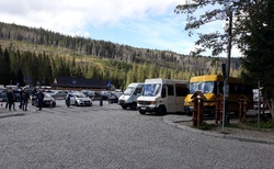 Palenica Bialczanska - parking u vstupu do NP