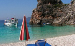 Pláž Agiofili nedaleko Vassiliki